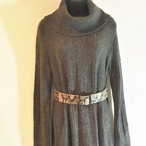 Modcloth Cowl Neck Sweater/Tunic Dress - Large